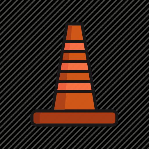 cone, industry, plastic, tool, traffic icon