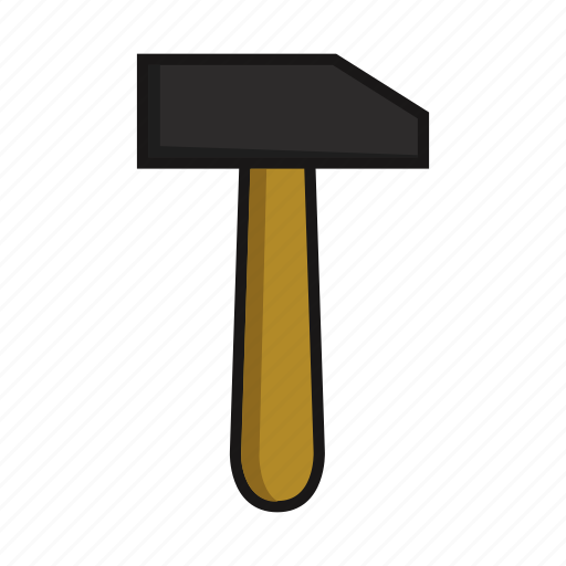 construction, hammer, industry, tool, work icon
