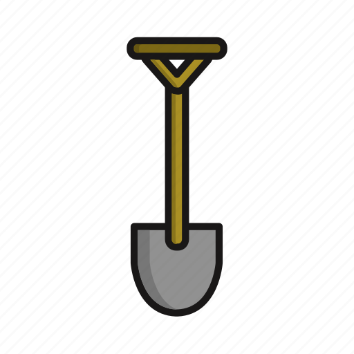 industry, shovel, tool, work icon