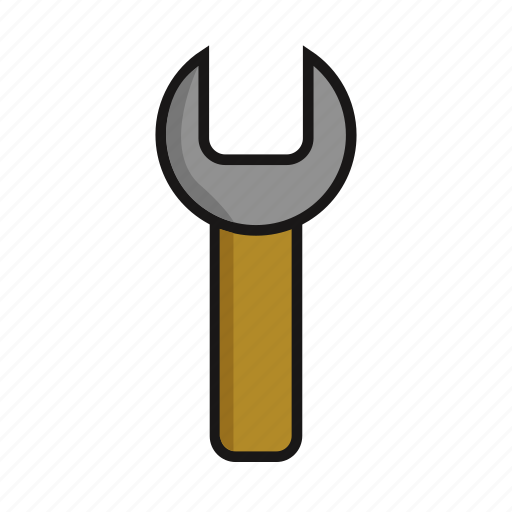 industry, metal, tool, work, wrench icon