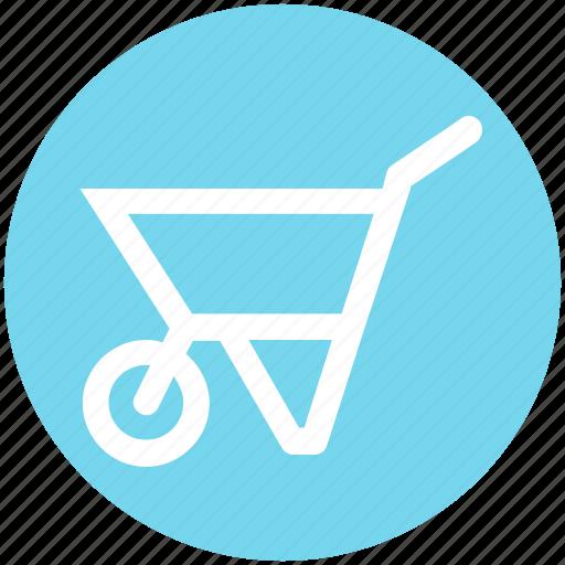 .svg, barrow, cart, garden trolley, hand cart, hand truck, trolley icon