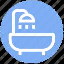 .svg, bathtub, restroom, shower, towel, tub, wash bathroom icon