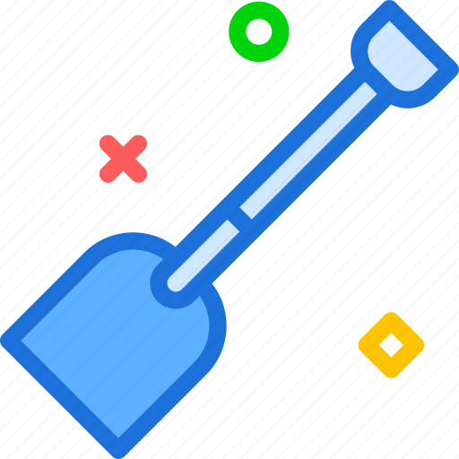 material, shovel, tool icon