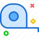 dimensions, measure, size, tape icon