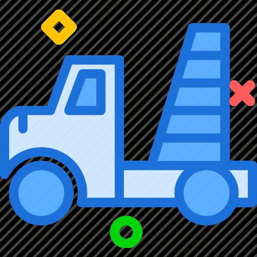 building, car, machine, site, transport, truck icon