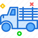 building, car, finish, machine, transport, truck, wood icon