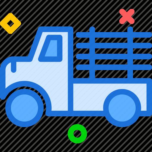 building, car, finish, machine, transport, truck, wood icon