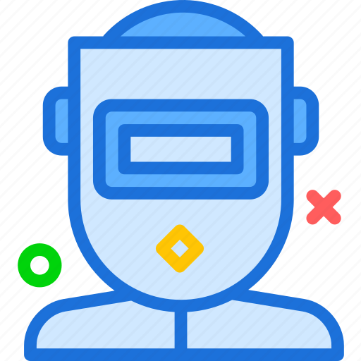 protection, shieldmask, weld, worker icon