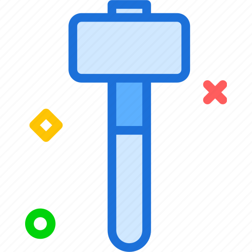instruments, manual, nails, rubhammer, tool, work icon