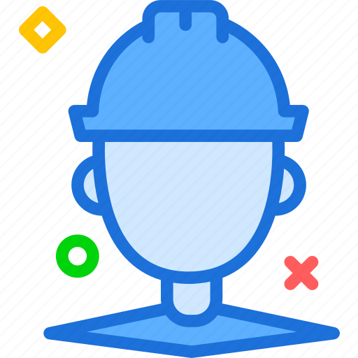 contruction, man, worker icon