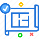 measure, plan, projectok icon