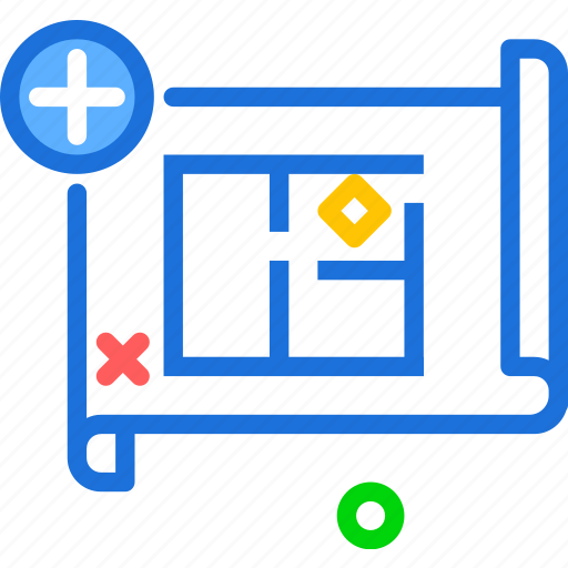 measure, plan, projectadd icon