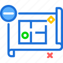 measure, plan, projectremove icon