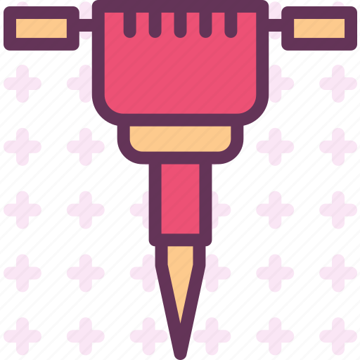 instruments, manual, nails, pickhammer, tool, work icon