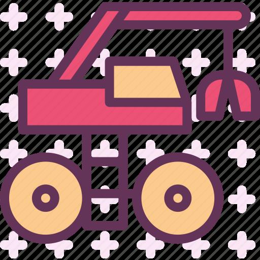 building, heavy, heavylift, machine, materials, road icon