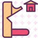 finish, toolhome, wood icon