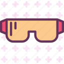 equipment, protection, workerglasses icon