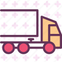 large, transportation, truck icon