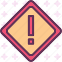 sign, warn icon