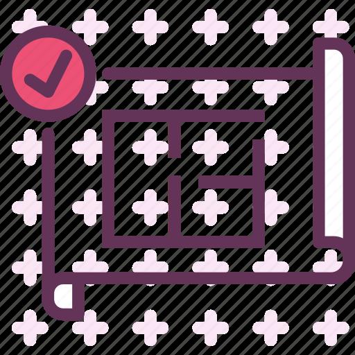 measure, plan, projectok icon