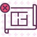 measure, plan, projectcancel icon