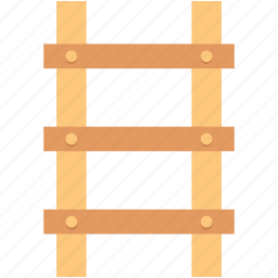 ladder, railing stair, staircase, stairs, steps icon