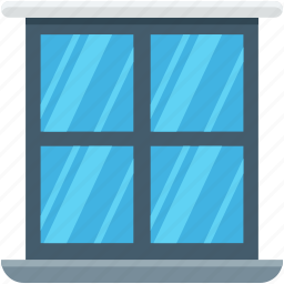 furniture, home window, living room window, room window, window icon