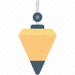 construction material, plumb, plumb bob, plumbing, plummet icon