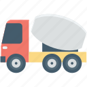 concrete buggy, concrete mixer, concrete vehicle, construction vehicle, transport icon