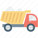 construction truck, dump truck, transport, truck, vehicle icon