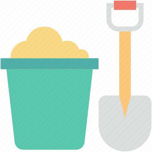 bucket, digging, farming, shovel, spade icon