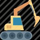 bulldozer, construction, heavy machinery, excavator, crawler