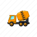 building, cement, concrete, construction, mixer, truck icon