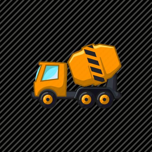 building, cement, concrete, construction, mixer, truck icon