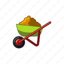construction, handle, vehicle, wheelbarrow icon