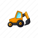 bulldozer, construction, excavator, machine, transport, vehicle icon