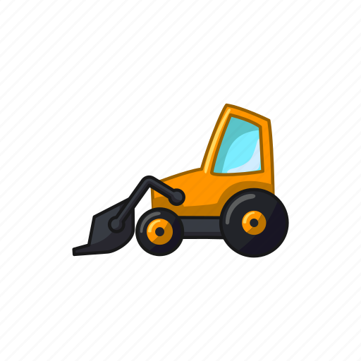 bulldozer, construction, excavator, machine, transport, vehicle icon