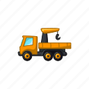 construction, crane, hook, transport, truck, vehicle icon