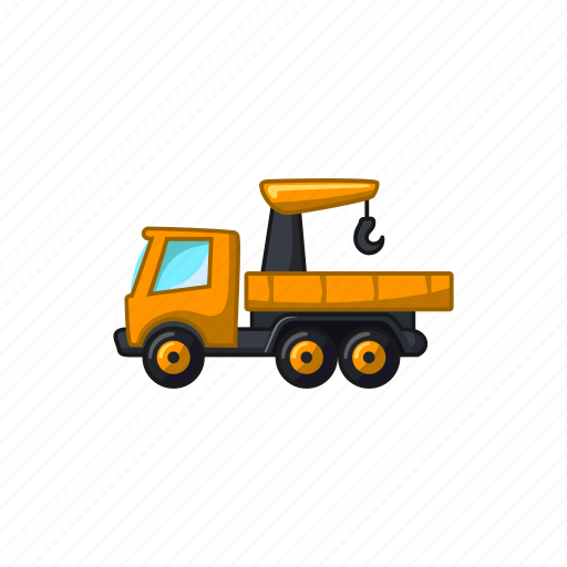 construction, crane, hook, transport, truck, vehicle icon