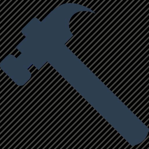 carpenter, claw hammer, hammer, too, woodwork icon