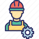development, engineering, hard hat, mechanic, under construction icon