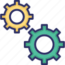 cogs wheel, configuration, gear, options, preferences icon