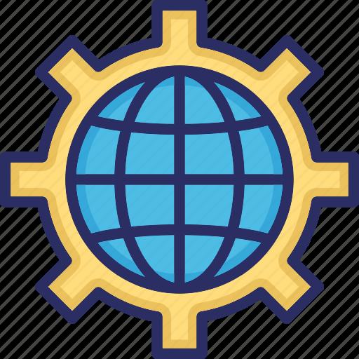 global configuration, global settings, global system, globe setting, international global setting icon