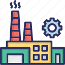 architecture, building, factory, industry, plant icon
