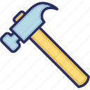 carpenter, claw hammer, hammer, too, woodwork icon