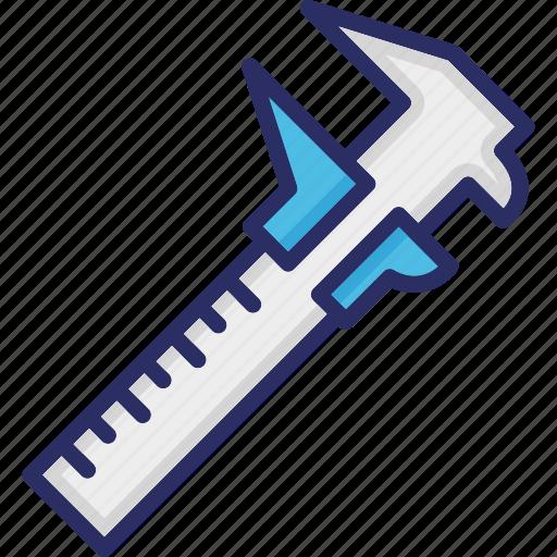 caliper, construction tool, measurement, measuring tool, radius technology icon