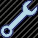 repairing, repairing tool, service tool, spanner, tool icon