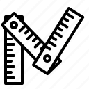 construction, equipment, ruler icon