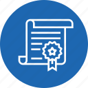 badge, certificate, construction, contract, deal icon