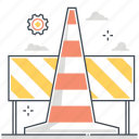 block, construction, road, sign, site, under, warning icon